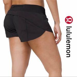 "Lululemon Black Speed Up Shorts 2.5"" LYCRA Fibre"